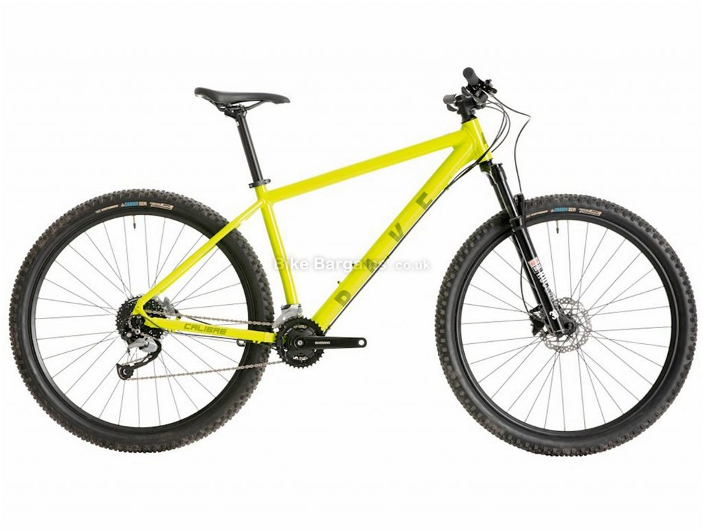 "Calibre Rake Alloy Hardtail Mountain Bike S,M,L, Yellow, 29"", Hardtail, 9 Speed, Disc, Double Chainring"