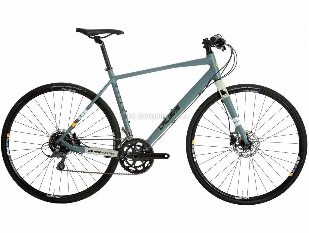 Calibre Stitch Urban City Hybrid Bike M, Grey, Alloy, 16 Speed, Disc, 700c