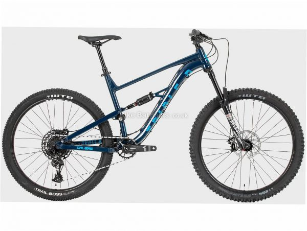 "Calibre Triple B Alloy Full Suspension Mountain Bike S, Blue, 27.5"", Full Suspension, 12 Speed, Disc, Single Chainring, 14.9kg"