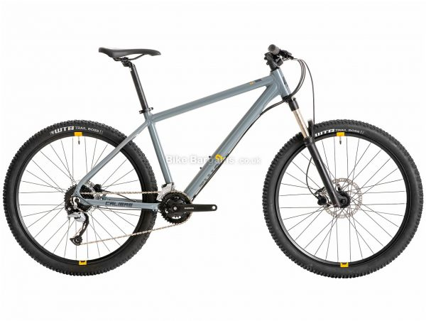 """Calibre Two Cubed Alloy Hardtail Mountain Bike S,M, Grey, Alloy, 27.5"""", Disc, Hardtail, 9 Speed"""