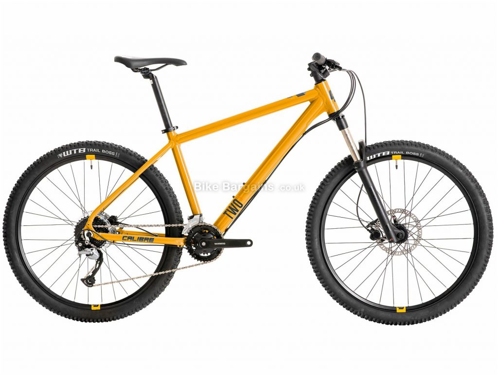 """Calibre Two Cubed Alloy Hardtail Mountain Bike M,L, Yellow, Alloy, 27.5"""", Disc, Hardtail, 9 Speed"""