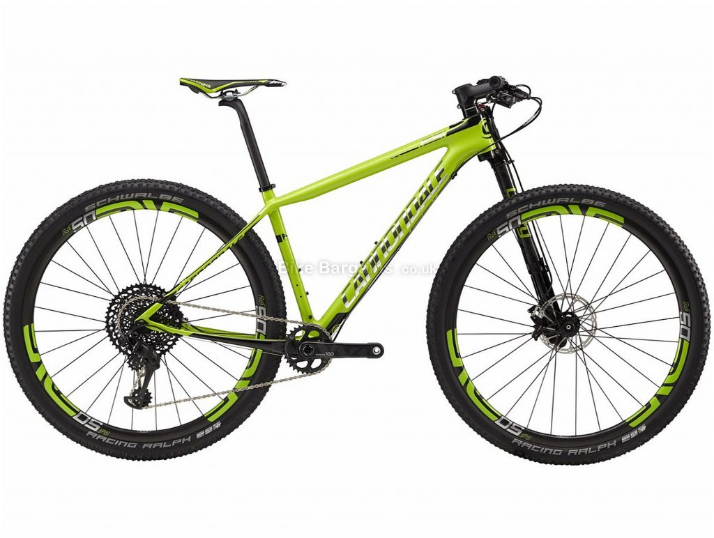 "Cannondale F-Si Team 27.5"" Carbon Hardtail Mountain Bike 2018 S, Green, Black, 27.5"", Hardtail, 12 Speed, Disc, Single Chainring"