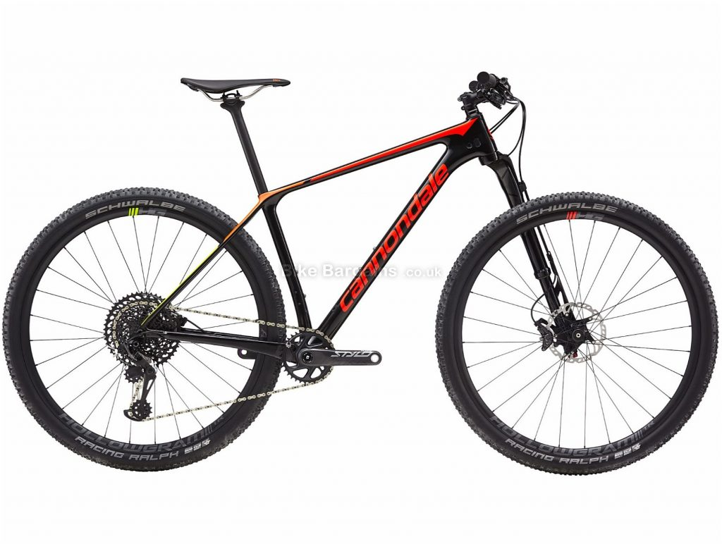"Cannondale F-si 2 29er Carbon Hardtail Mountain Bike 2019 XL, Black, 29"", Hardtail, 12 Speed, Disc, Single Chainring"