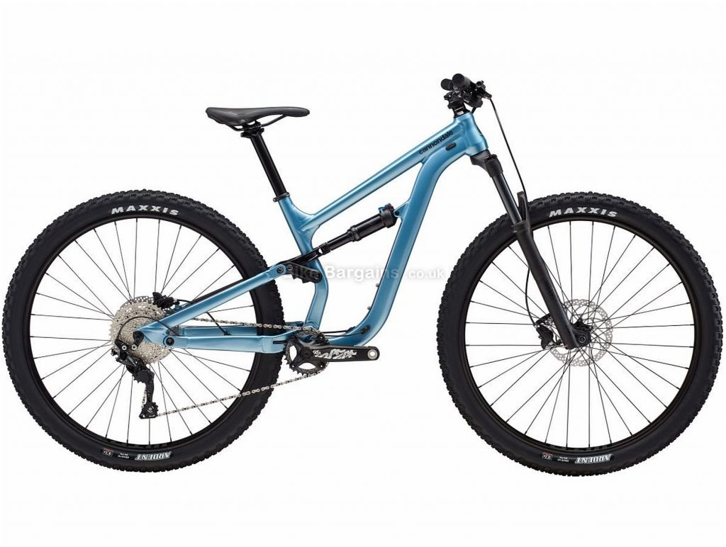 "Cannondale Habit 3 Ladies Alloy Full Suspension Mountain Bike 2019 XS, Blue, 27.5"", 29"", Full Suspension, 10 Speed, Disc, Single Chainring"