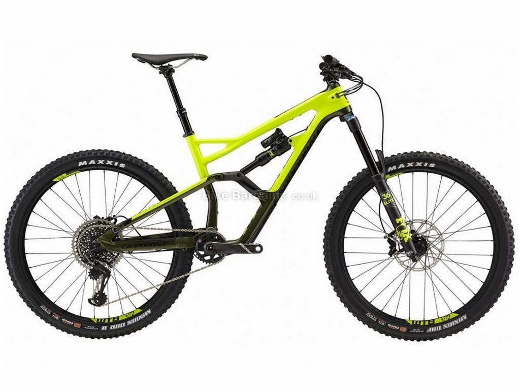"Cannondale Jekyll 2 Carbon Full Suspension Mountain Bike 2018 M, Yellow, Black, 27.5"", Full Suspension, 12 Speed, Disc, Single Chainring"