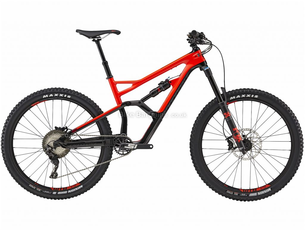 """Cannondale Jekyll 3 27.5 Carbon Full Suspension Mountain Bike 2019 S, Red, 27.5"""", Full Suspension, 11 Speed, Disc, Single Chainring"""