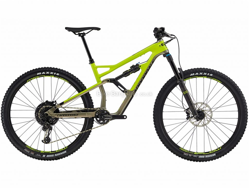 """Cannondale Jekyll 3 29er Carbon Full Suspension Mountain Bike 2019 S, Green, 27.5"""", Full Suspension, 11 Speed, Disc, Single Chainring"""