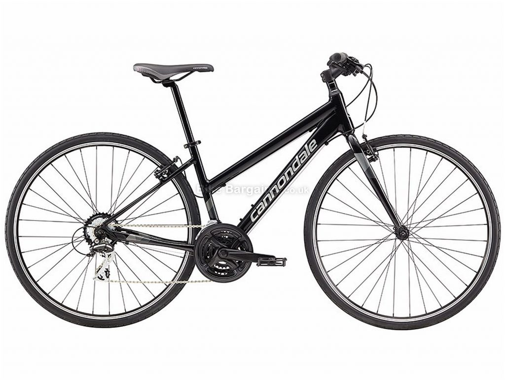 Cannondale Quick 8 Ladies Alloy City Bike 2018 L, Black, 700c, Alloy, 7 Speed, Triple Chainring, Caliper Brakes
