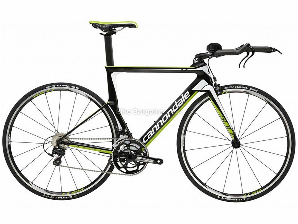 Cannondale Slice 105 Carbon Triathlon Bike 2016 51cm,54cm, Grey, Black, Green, 700c, Carbon, 11 speed, Caliper Brakes, Double Chainring