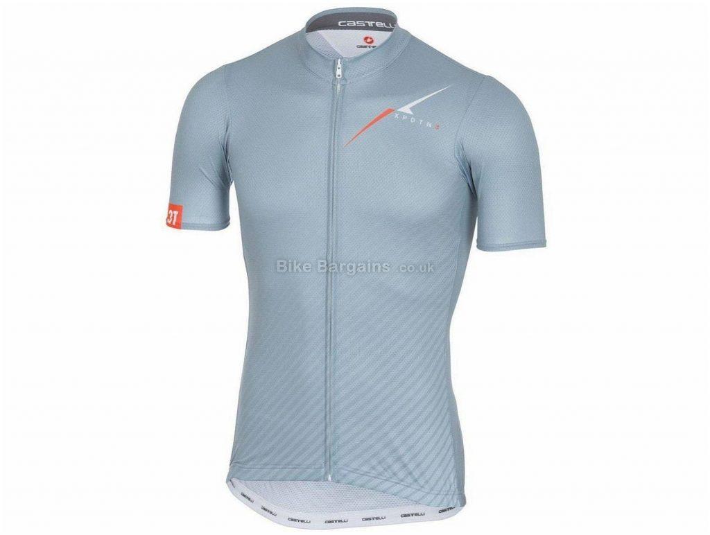 Castelli 3T XPDTN Explore Short Sleeve Jersey L,XL, Grey