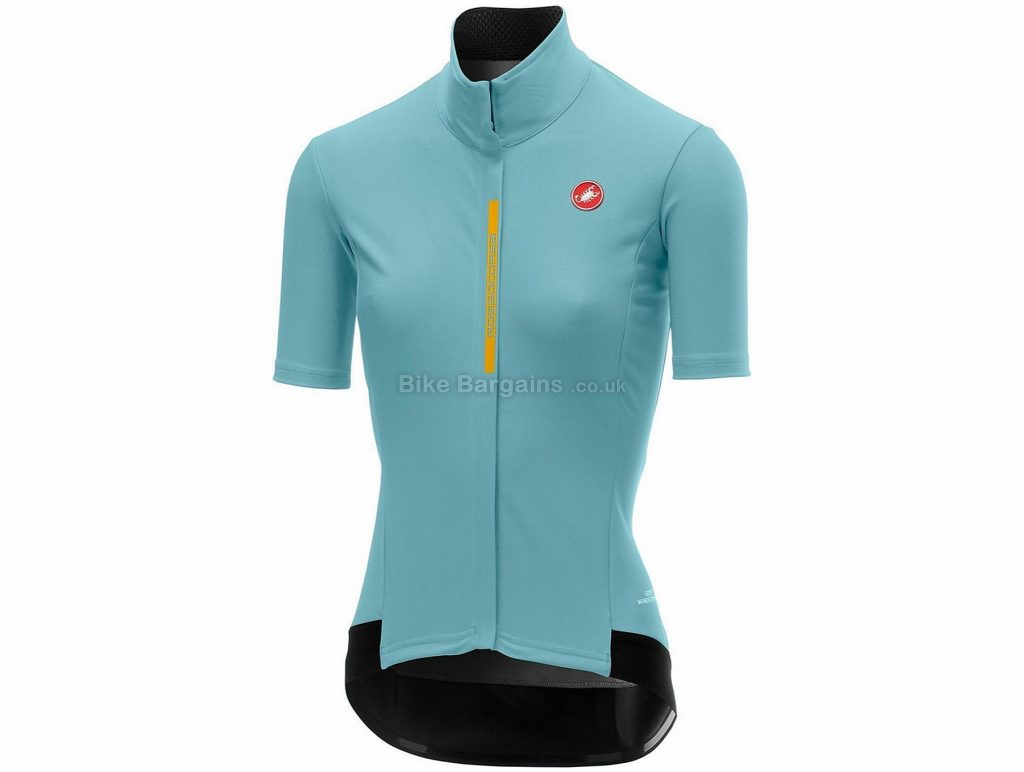 Castelli Gabba 2 Ladies Short Sleeve Jersey L, Turquoise, Yellow