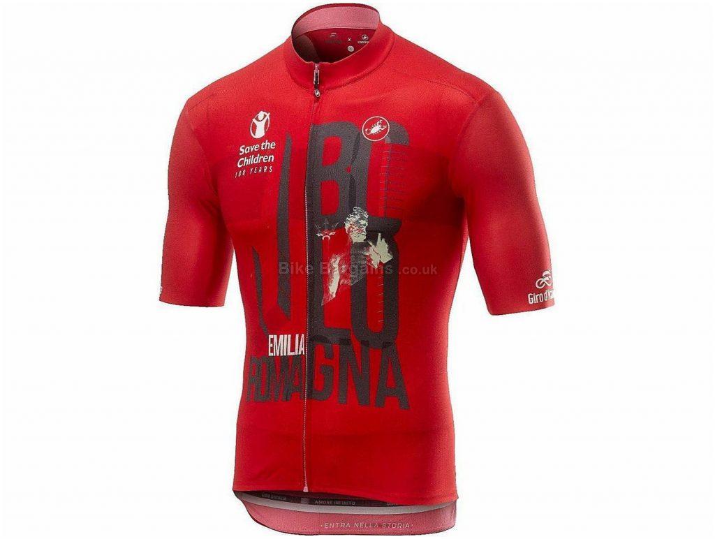 Castelli Giro 102 Bologna Short Sleeve Jersey M, Red