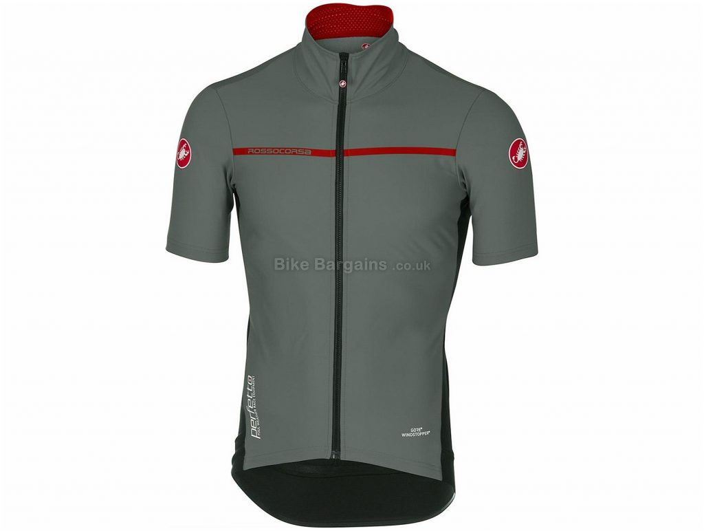 Castelli Perfetto Light 2 Short Sleeve Jersey S, Grey, Blue