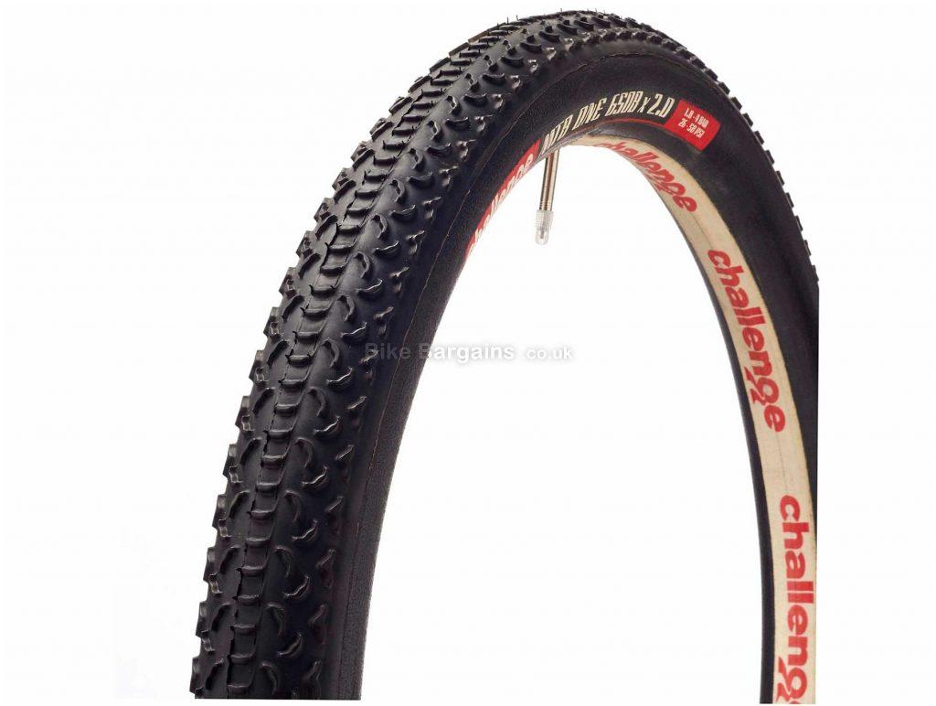 "Challenge MTB One Tubular Folding 27.5"" MTB Tyre 27.5"", 2.0"", Black, 580g, MTB, Folding"