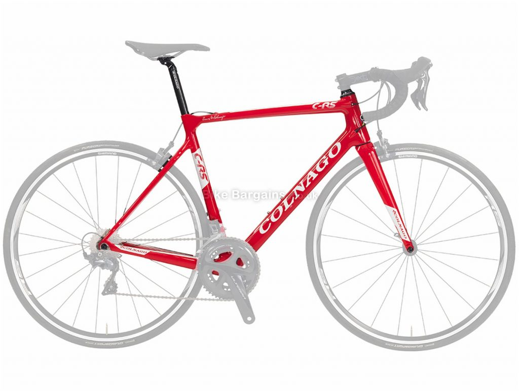 Colnago CRS Calipers Carbon Road Frame 2018 56cm, Black, Red, White, Carbon, 700c, Caliper Brakes