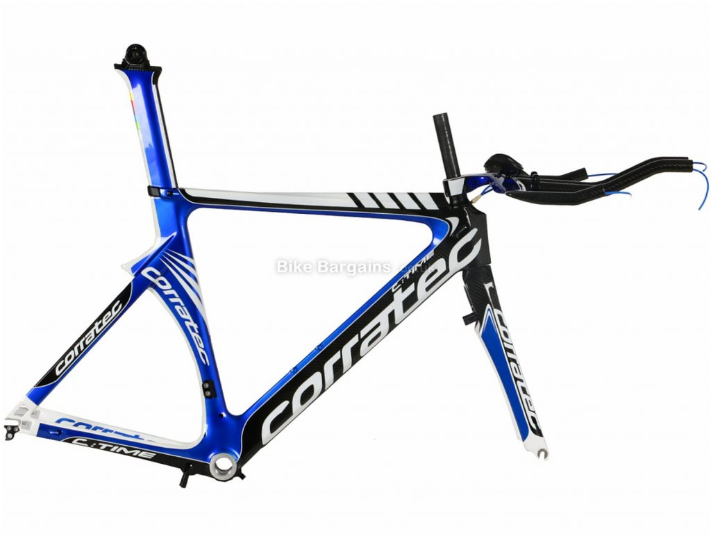 Corratec C:Time Time Trial Calipers Carbon Road Frame 54cm, Blue, White, Black, Carbon, 700c, Caliper Brakes