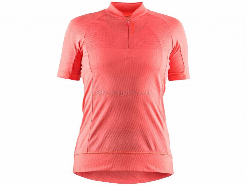 Craft Rise Ladies Short Sleeve Jersey L, Pink, Black