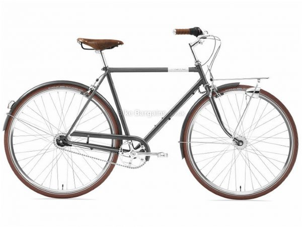 Creme Caferacer Doppio City Hybrid Bike 2019 S, Grey, Steel, 7 Speed, Calipers, 700c