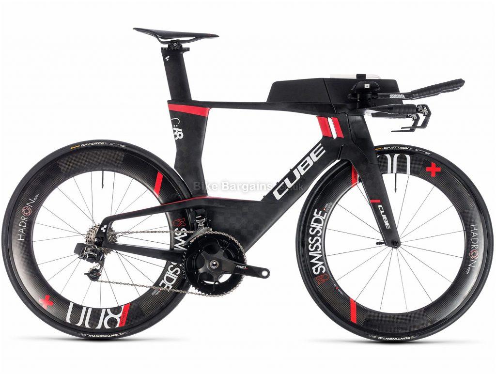 Cube Aerium C:68 SLT Low Triathlon Carbon Road Bike 2019 XS, Black, Carbon, 11 Speed, Caliper Brakes, Double Chainring