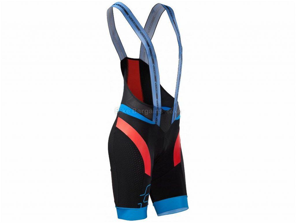 Cube Black Zero Bib Shorts L, Black, Red, Blue