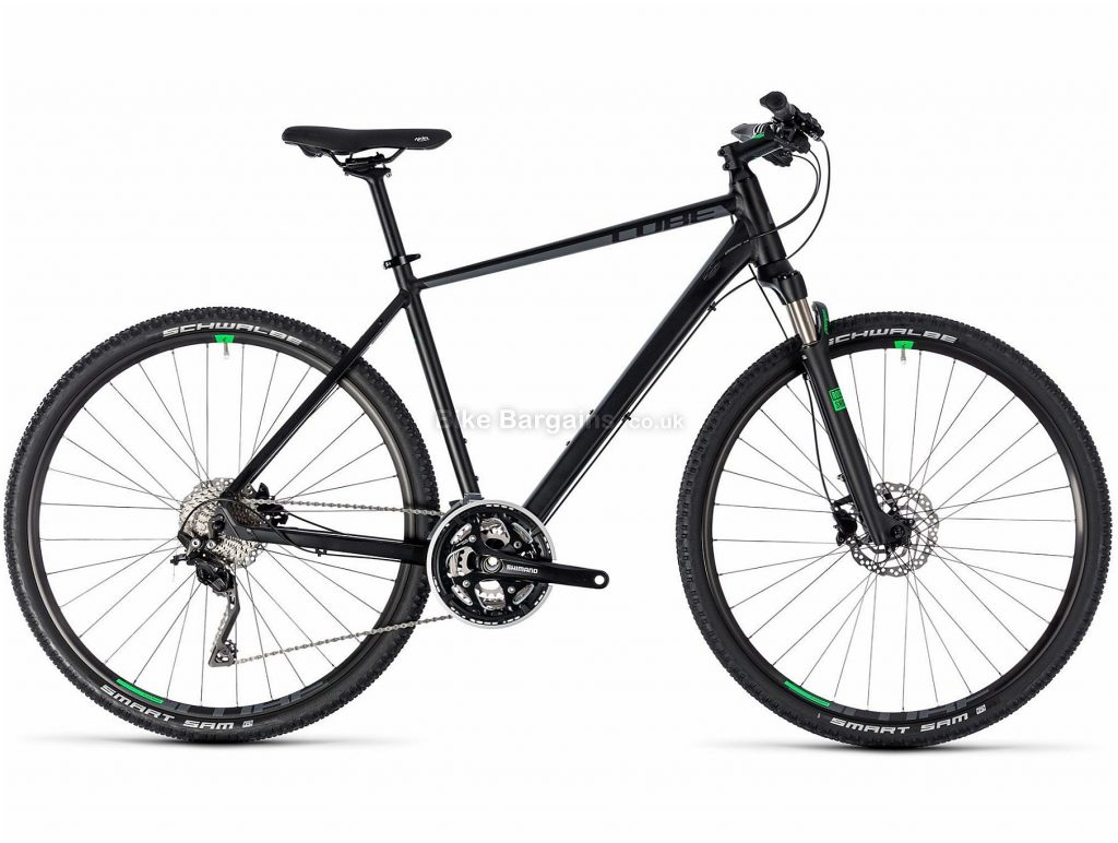 Cube Cross City Hybrid Bike 2018 46cm, Black, Alloy, 30 Speed, Disc, 700c