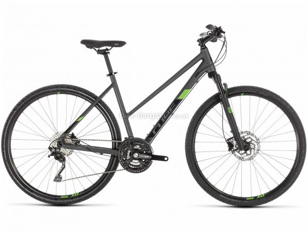 Cube Cross Pro Ladies City Hybrid Bike 2019 54cm, Grey, Alloy, 30 Speed, Disc, 700c