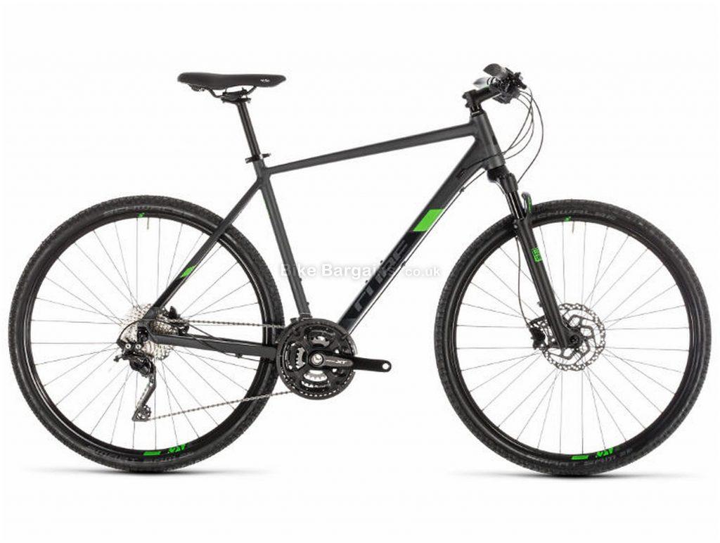 Cube Cross Pro Urban City Hybrid Bike 2019 46cm, Black, Alloy, 30 Speed, Disc, 700c