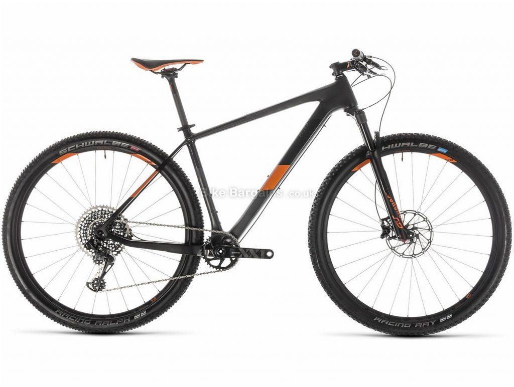 "Cube Elite C:62 Race 29er Carbon Hardtail Mountain Bike 2019 23"", Grey, Orange, 29"", Hardtail, 12 Speed, Disc, Single Chainring"