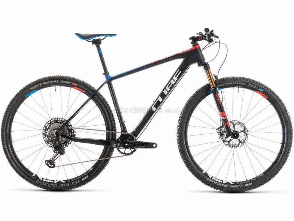 "Cube Elite C:68 SL Carbon Hardtail Mountain Bike 2019 17"", Black, Carbon, 29"", 12 Speed, Single Chainring, Disc, Hardtail, 9.2kg"