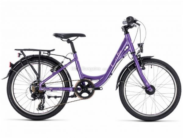 "Cube Ella 200 Alloy Kids Bike 2019 20"", Purple, Alloy, 20"", 7 Speed, Single Chainring, Caliper Brakes, 12.2kg"