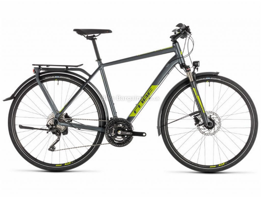 Cube Kathmandu EXC Alloy Touring City Bike 2019 46cm, Grey, Green, Alloy, 700c, 10 Speed, Triple Chainring, Disc, 15.4kg