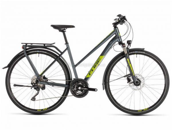 Cube Kathmandu EXC Trapeze Alloy Touring City Bike 2019 54cm, Grey, Green, Alloy, 700c, 10 Speed, Triple Chainring, Disc, 15.4kg