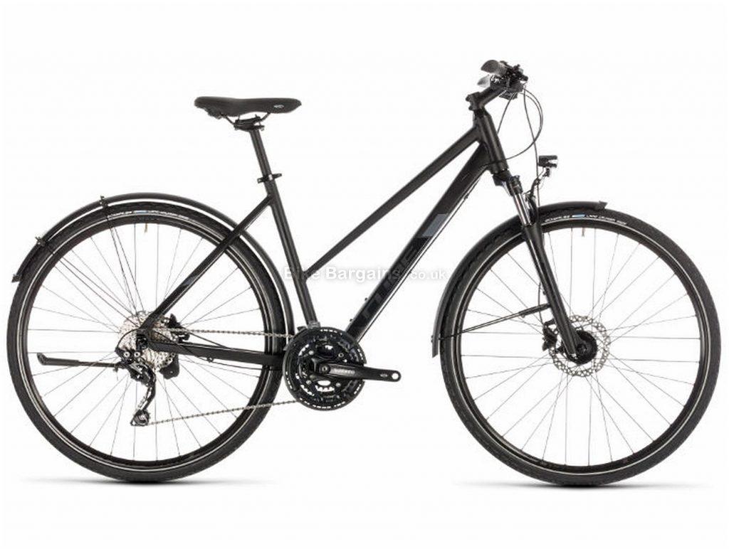 Cube Nature EXC Allroad Trapeze Alloy Urban City Bike 2019 46cm, Black, Grey, Alloy, 700c, 10 Speed, Triple Chainring, Disc, 15.2kg