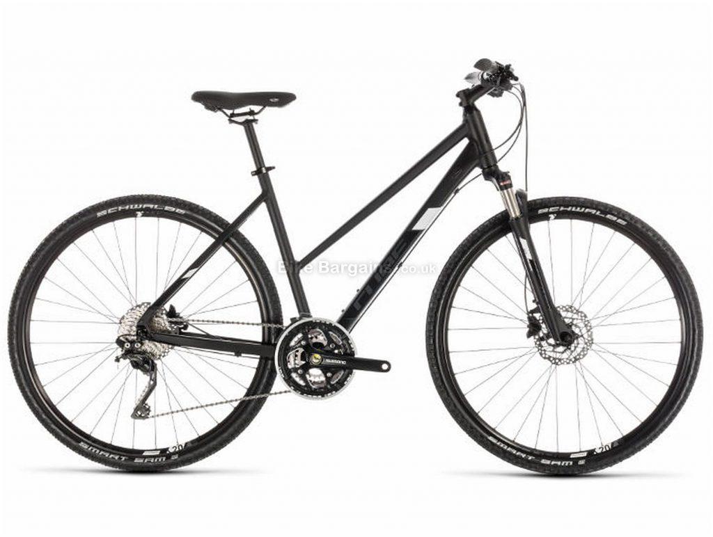 Cube Nature SL Trapeze Alloy Urban City Bike 2019 50cm, Black, White, Alloy, 700c, 10 Speed, Triple Chainring, Disc, 12.7kg