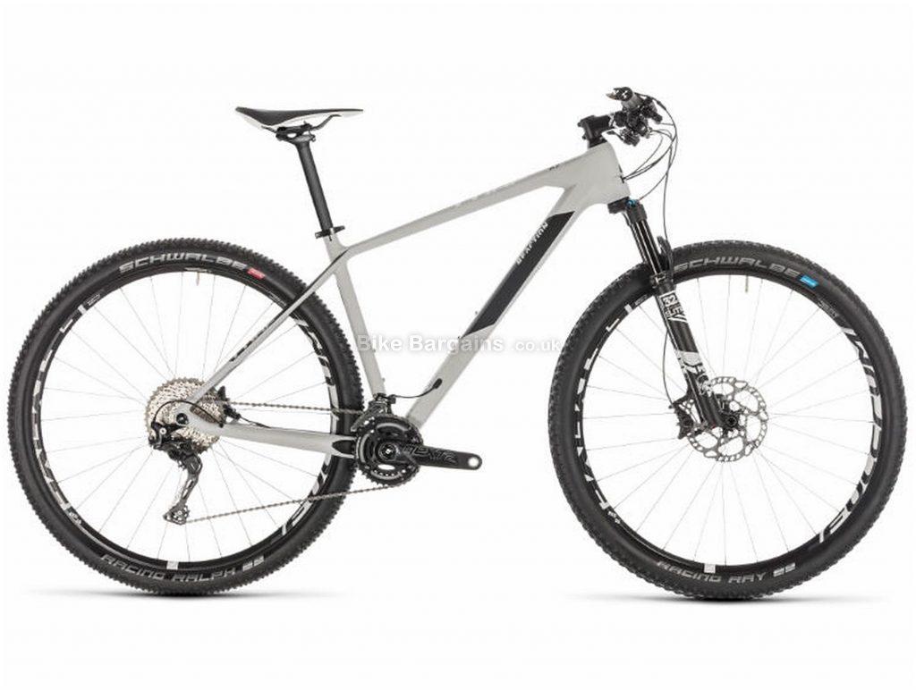 "Cube Reaction C:62 SL 29 Carbon Hardtail Mountain Bike 2019 23"", Grey, Black, Carbon, 29"", 11 Speed, Double Chainring, Disc, Hardtail, 10.3kg"