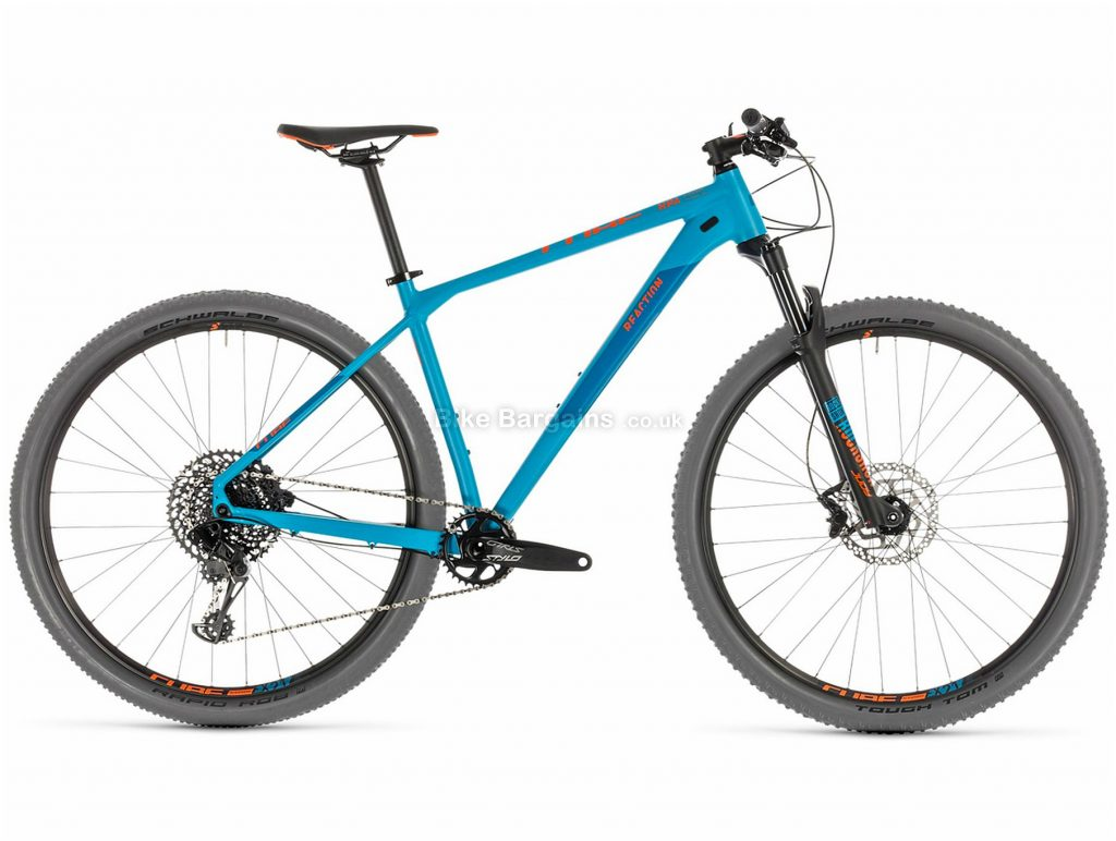 "Cube Reaction Race Alloy Hardtail Mountain Bike 2019 19"", Blue, 29"", Alloy, 12 Speed, Single Chainring, Disc"