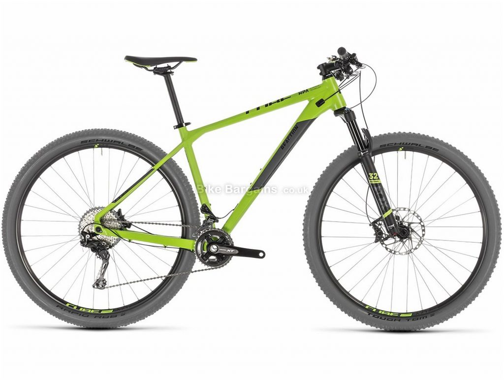 """Cube Reaction SL 27.5"""" 29er Alloy Hardtail Mountain Bike 2019 17"""", Green, Grey, 29"""", Hardtail, 11 Speed, Disc, Double Chainring"""