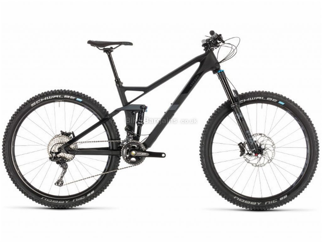 "Cube Stereo 140 HPC SL 27.5 Carbon Full Suspension Mountain Bike 2019 22"", Grey, Black, Carbon, 27.5"", 11 Speed, Double Chainring, Disc, Full Suspension, 13.3kg"