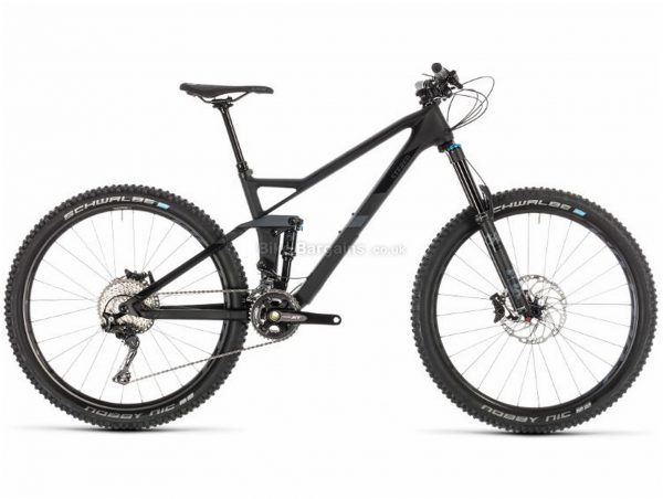 """Cube Stereo 140 HPC SL 27.5 Carbon Full Suspension Mountain Bike 2019 22"""", Grey, Black, Carbon, 27.5"""", 22 Speed, Double Chainring, Disc, Full Suspension, 13.3kg"""