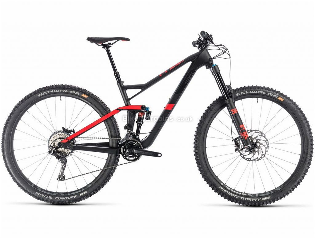 "Cube Stereo 150 C:62 Race 29er Carbon Full Suspension Mountain Bike 2019 16"", Black, Red, 29"", Full Suspension, 11 Speed, Disc, Double Chainring"