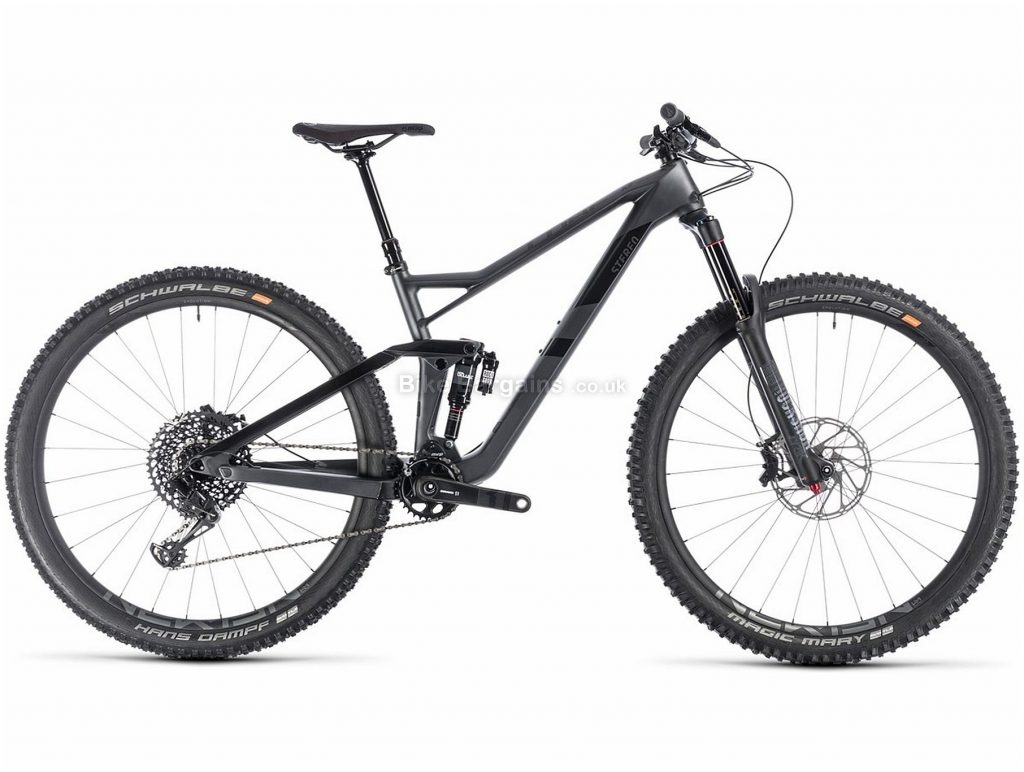 "Cube Stereo 150 C:62 SL 29er Carbon Full Suspension Mountain Bike 2019 16"", Grey, Black, 29"", Full Suspension, 12 Speed, Disc, Single Chainring"