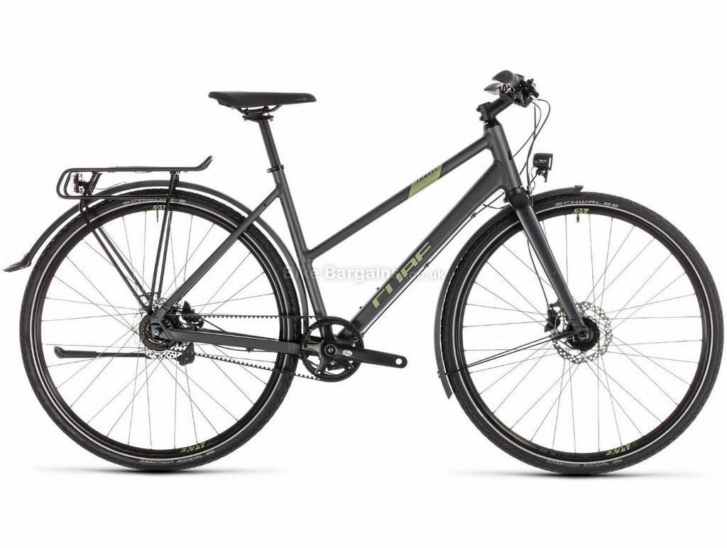 Cube Travel SL Touring Ladies Alloy City Bike 2019 50cm, Grey, 700c, 14.3kg, Alloy, 8 Speed, Single Chainring, Disc