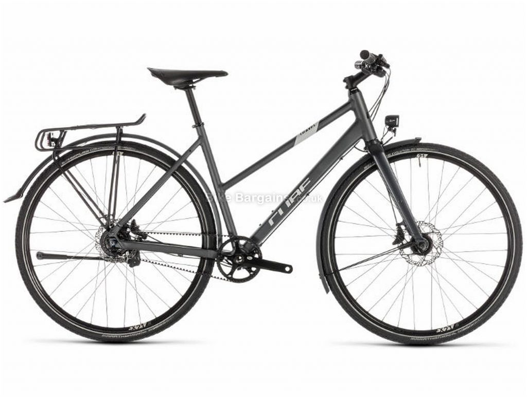 Cube Travel SLT Alloy Touring City Bike 2019 46cm, Grey, Alloy, 700c, 11 Speed, Single Chainring, Disc, 13.7kg