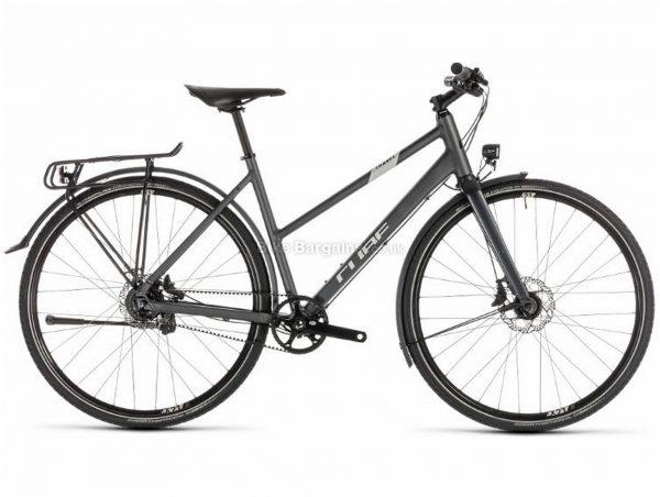 Cube Travel SLT Alloy Touring City Bike 2019 46cm, Grey, Alloy, 700c, 11 Speed, Single Chainring, Disc, 13.7kg