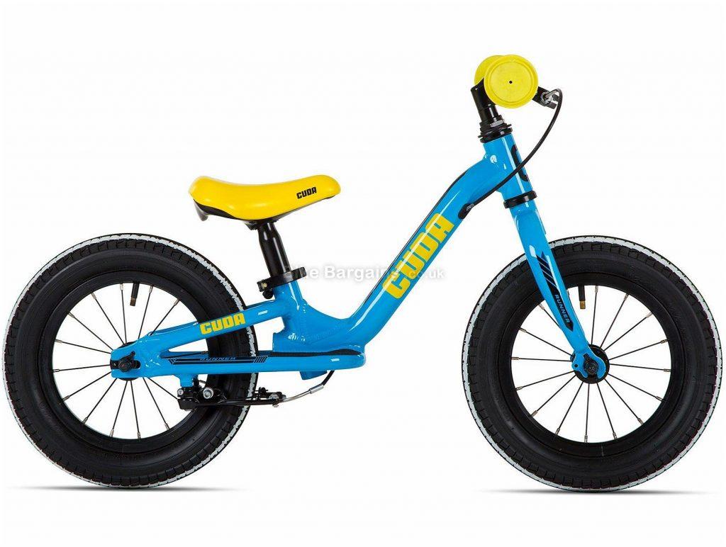 "Cuda Runner 12"" Alloy Balance Kids Bike One Size, Blue, Yellow, Alloy, 12"", Caliper Brakes, Single Speed, 4.4kg"