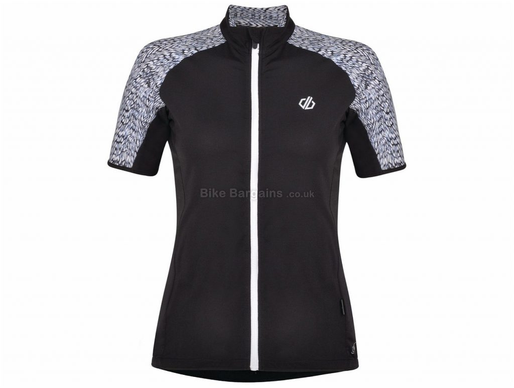 Dare 2b Expound Ladies Short Sleeve Jersey 8,10,12,14, Grey, Black