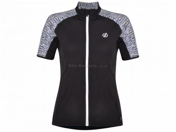 Dare 2b Expound Ladies Short Sleeve Jersey 8,10,12,14, Grey, Black