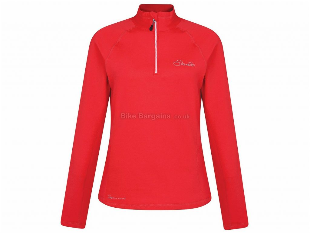 Dare 2b Involve Core Ladies Long Sleeve Jersey 12,14,16,18,20, Red