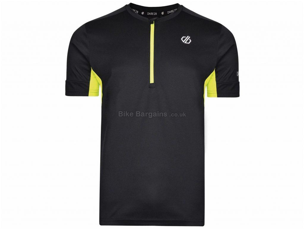 Dare 2b Percept Short Sleeve Jersey L, Black