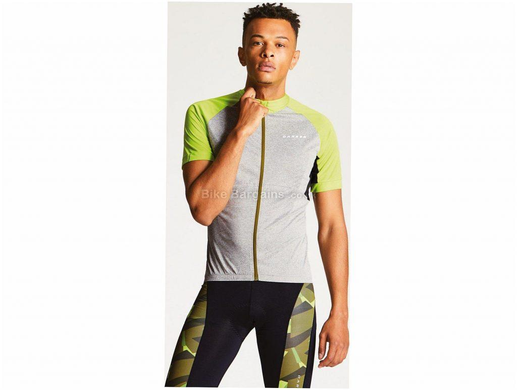 Dare 2b Sequal Short Sleeve Jersey S,M, Grey, Yellow